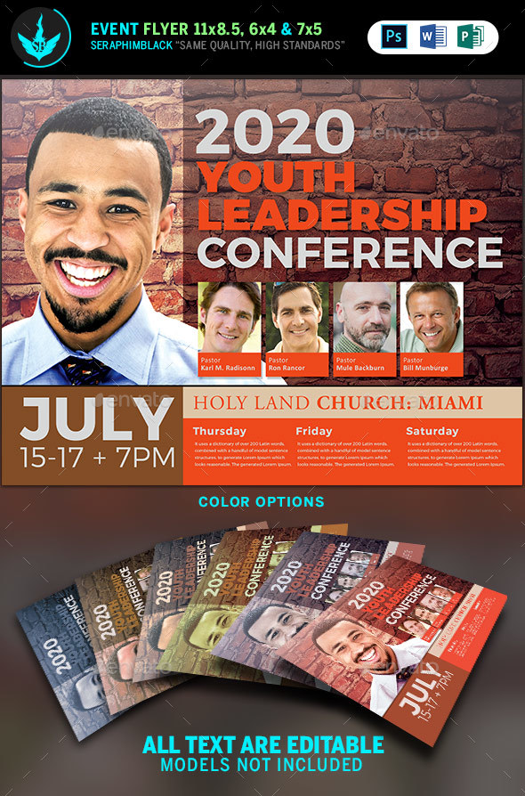 Youth Leadership Conference Flyer Template by SeraphimBlack