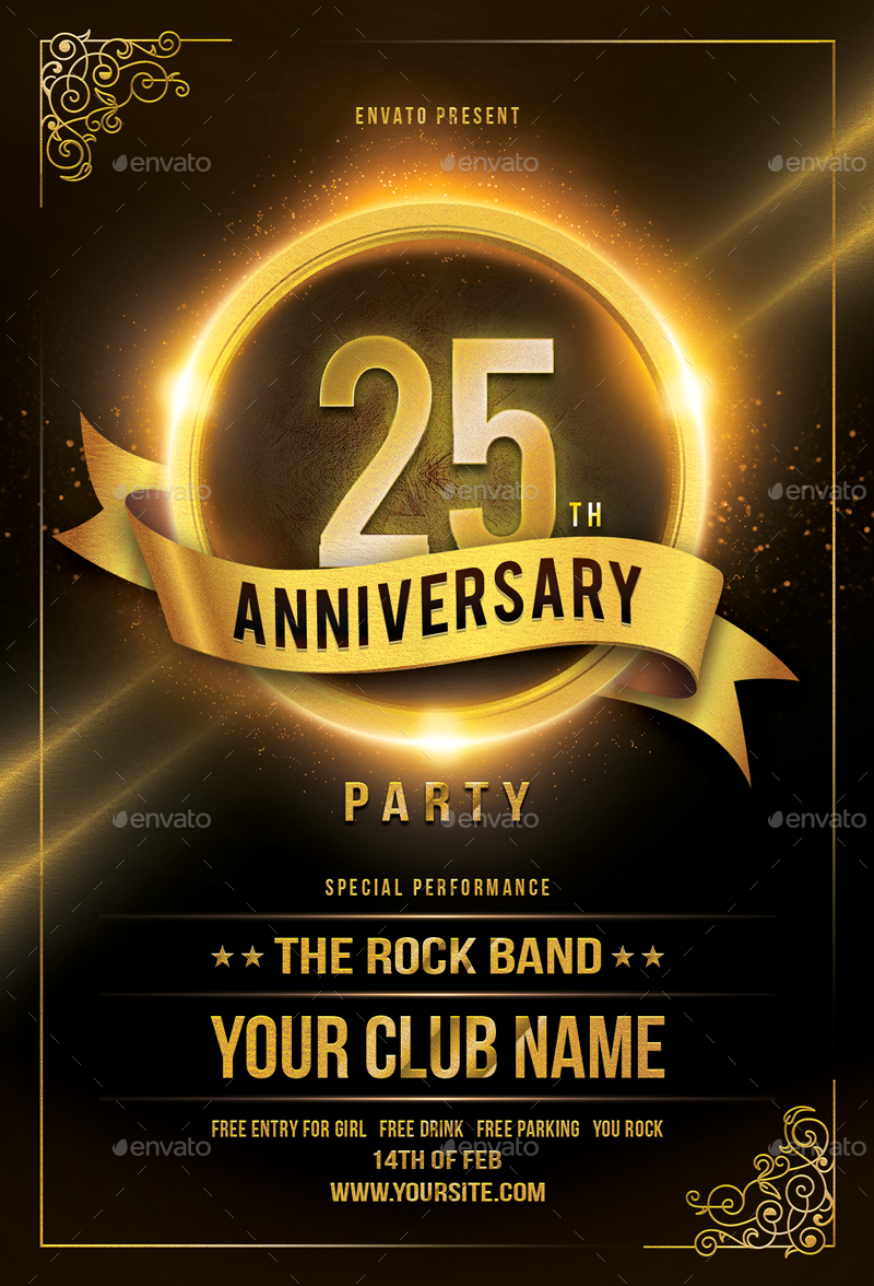 Mockup Free Flyer Anniversary Flyer By Sunilpatilin | Graphicriver