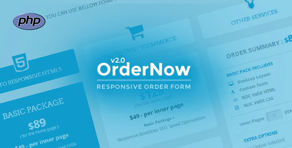 OrderNow - Responsive PHP Order Form by responsiveexperts CodeCanyon - order form layout