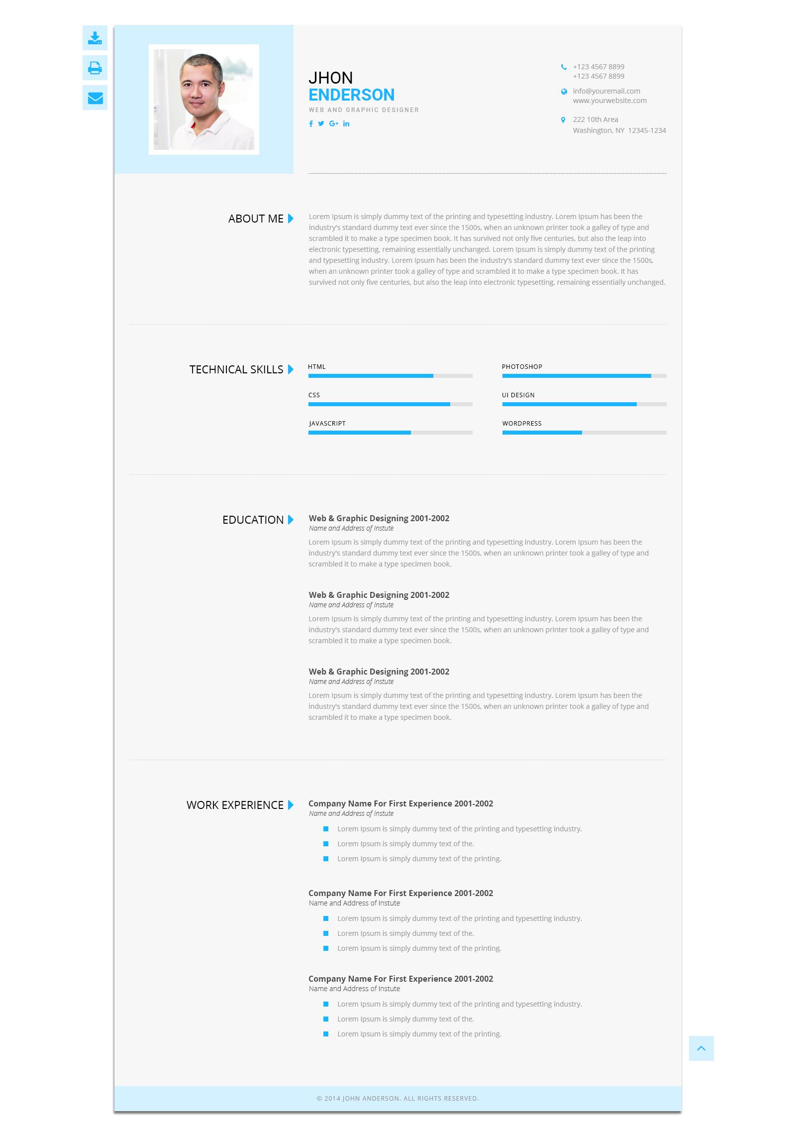 gaming resume template