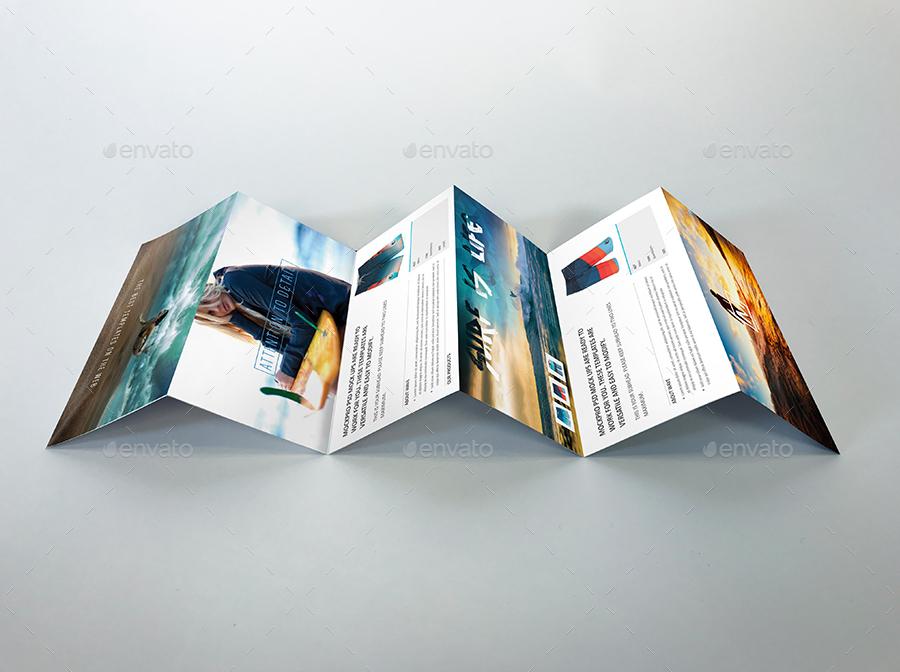 6 Panel Accordion Fold Brochure PSD Mockup by _MockPro_ GraphicRiver - accordion fold brochure