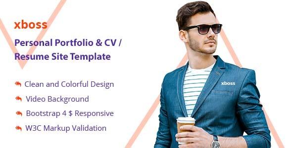 xboss Personal Portfolio  CV / Resume Site Template by Theme-illusion - resume site template