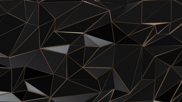 Black Galaxy Wallpaper Hd Black And Gold Abstract Low Poly Triangle Background By