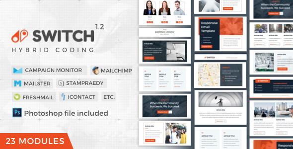 Switch Business Newsletter by nutzumi ThemeForest - business newsletter