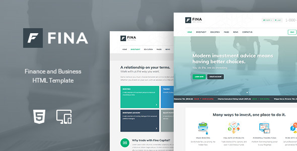 Fina - Finance and Business HTML Template by Indonez ThemeForest
