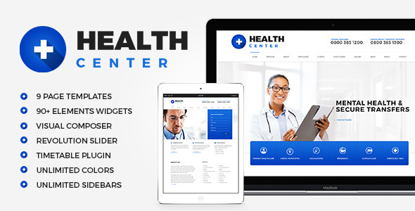 Health Center - Medical WordPress theme by disgogo ThemeForest