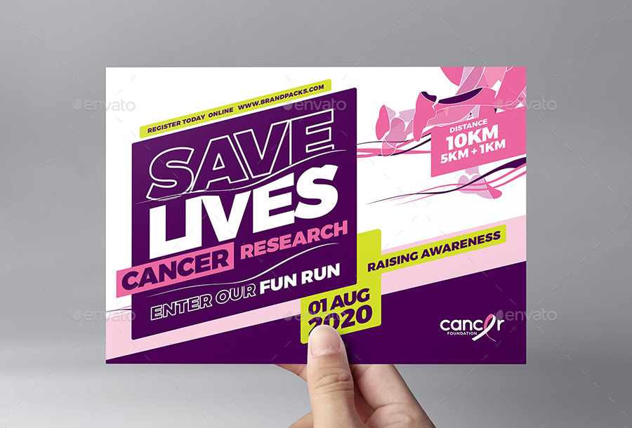 Cancer Benefit Flyer Template by BrandPacks GraphicRiver - Benefit Flyer Template