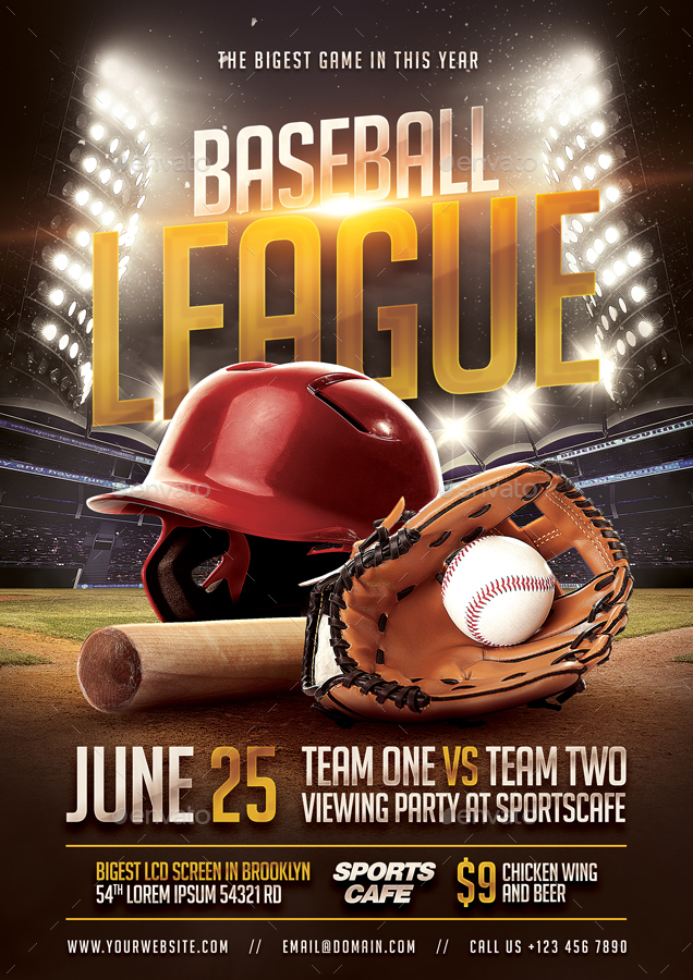 Baseball Flyer by bornx GraphicRiver