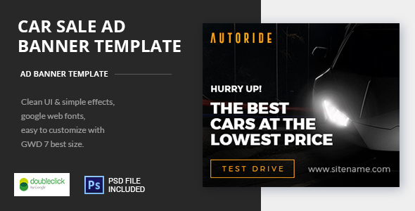 Car Sale AD Banner Template HTML5 by 0effortthemes CodeCanyon