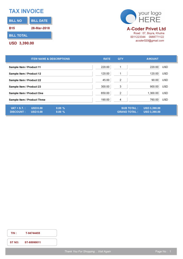 Easy Invoice- Invoice Management System  All Reports by a-coder