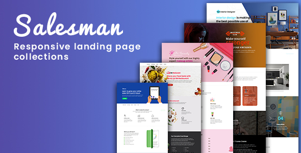 Salesman - Collection of Responsive Landing Page Templates by
