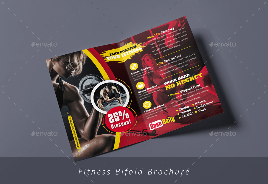 Fitness Brochure Bundle by designsoul14 GraphicRiver - Fitness Brochure