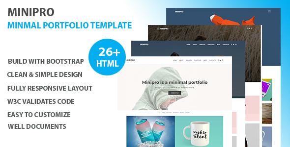 Minipro - Minimal Portfolio Template by Usdtheme ThemeForest - online portfolio template