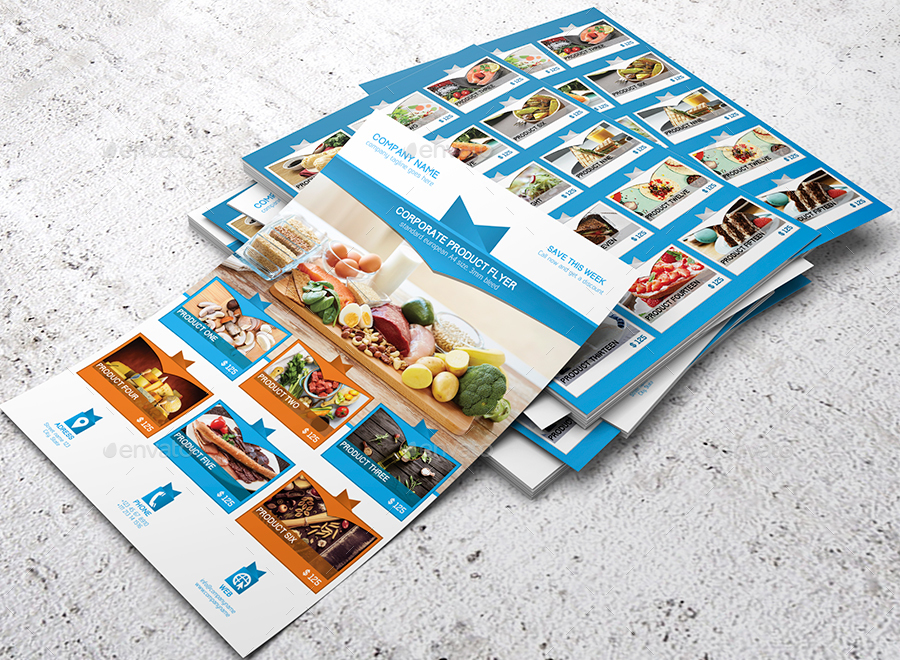 Corporate Product Promotion Flyer Template by shockydesign