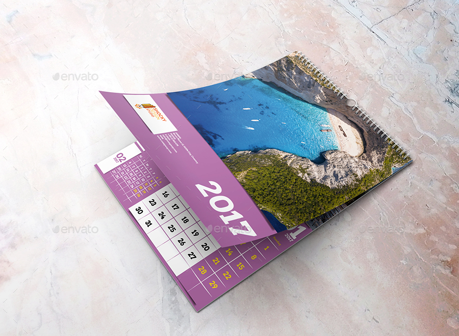 2017 Wall Calendar by shockydesign GraphicRiver