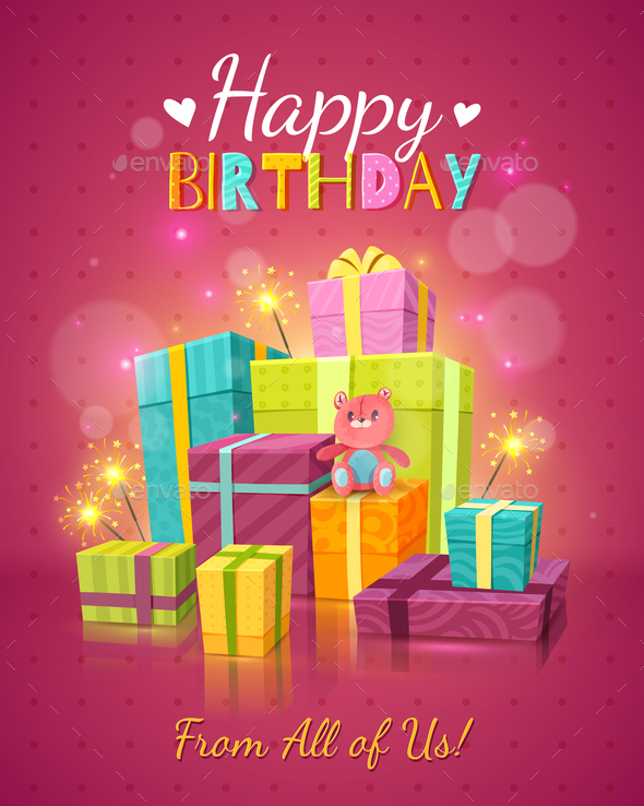 Happy Birthday Background by macrovector GraphicRiver