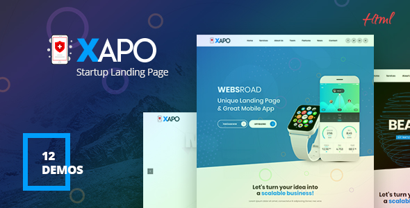 Xapo - Responsive Landing Page Template by websroad ThemeForest