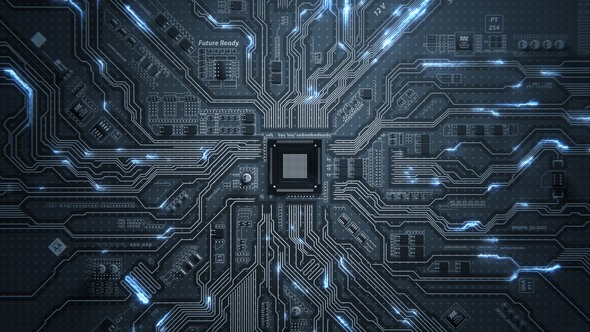 Motherboard Circuit Background by emotionica VideoHive - circuit design background
