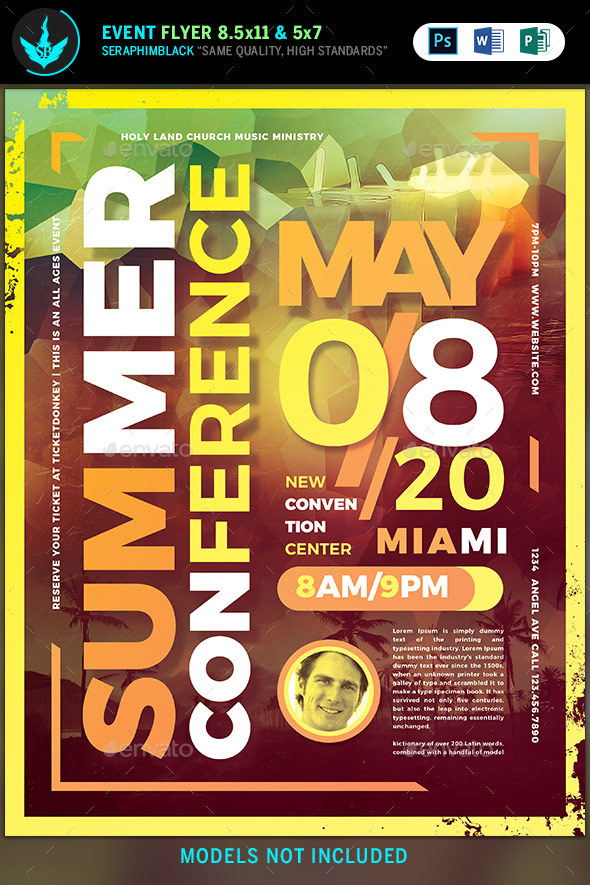 Summer Conference Flyer Template by SeraphimBlack GraphicRiver