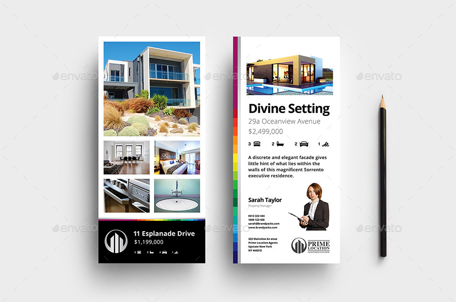 Real Estate DL Rack Card Template by BrandPacks GraphicRiver