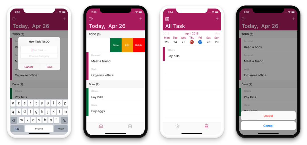 TODO App - iOS App For Task List (Online Storage Parse) by KxDevelopment