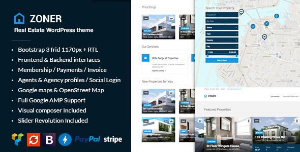 Zoner - Real Estate WordPress Theme by fruitfulcode ThemeForest