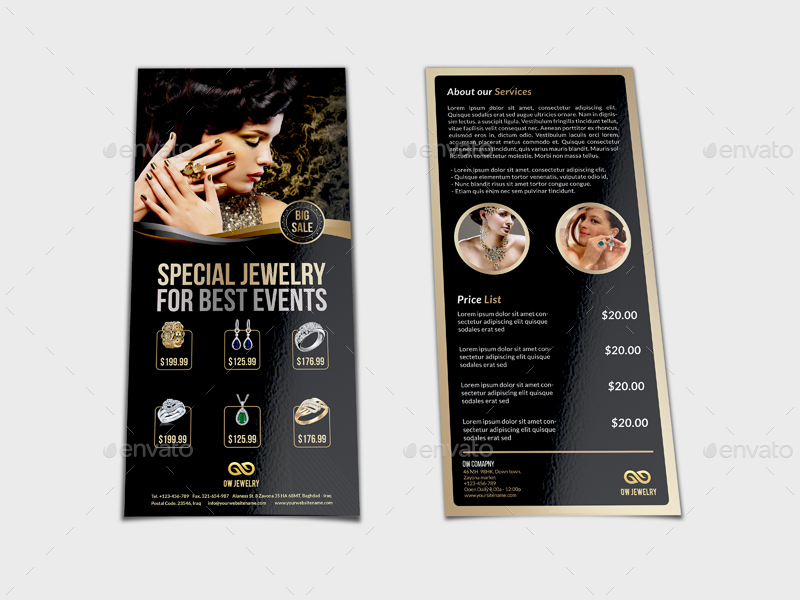 Jewelry Flyer Templates DL Size Vol2 by OWPictures GraphicRiver