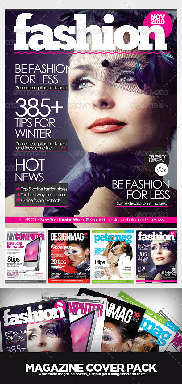 Magazine Cover Templates by EAMejia GraphicRiver
