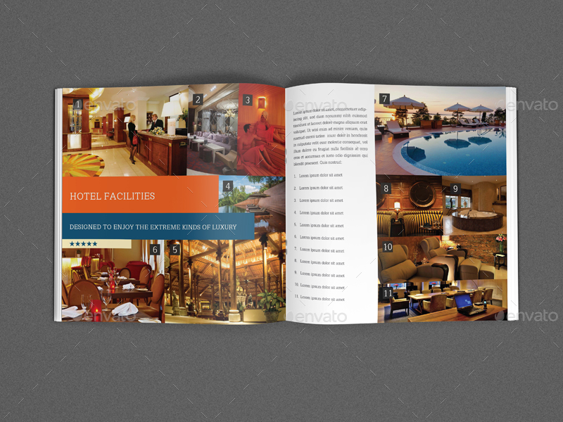 Hotel and Motel Brochure Bundle by OWPictures GraphicRiver - hotel brochure template