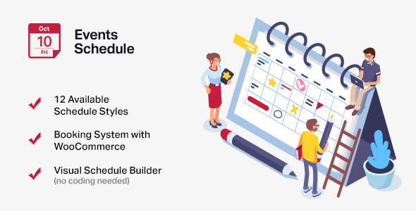 Events Schedule - WordPress Events Calendar Plugin by CurlyThemes