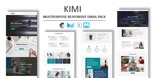Kimi Multipurpose Responsive Email Template With Stamp