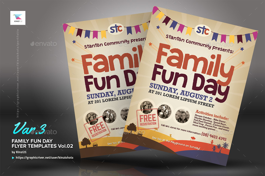 Alternative Family Fun Day Flyers vol02 by kinzishots GraphicRiver