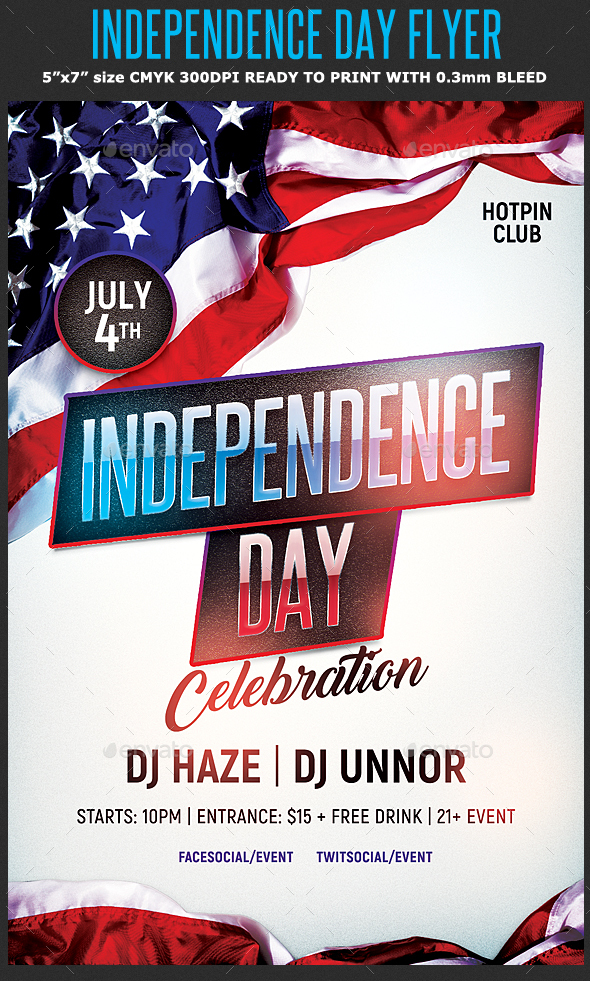 Independence Day Flyer Template by Hotpin GraphicRiver