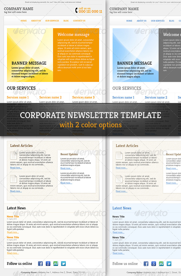 Corporate  Professional Email Newsletter Template by R_GENESIS - corporate newsletter template