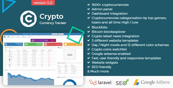 Crypto Currency Tracker - Realtime Prices, Charts, News, ICO\u0027s and