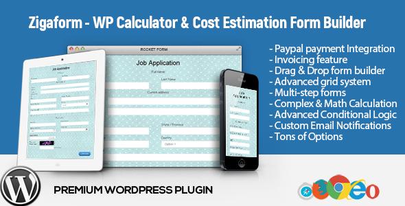 Zigaform - WordPress Calculator  Cost Estimation Form Builder by - product pricing calculator