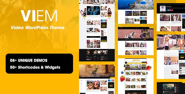 Viem - Video WordPress Theme by DawnThemes ThemeForest