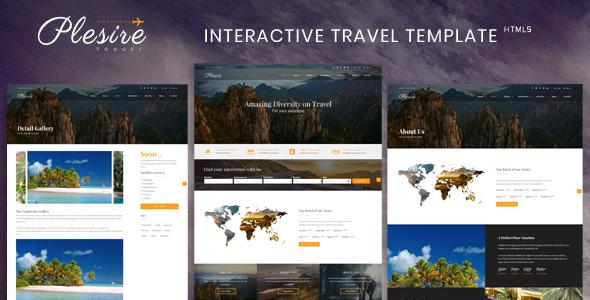 Travel Website Templates MasterTemplate - interactive website template
