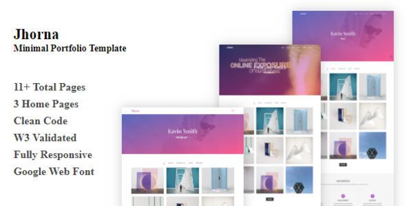 Jhorna - Minimal Portfolio Template by themeDream1 ThemeForest - online portfolio template