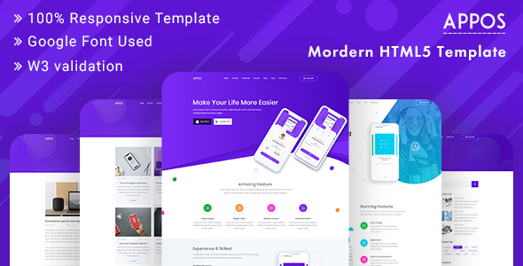 APPOS - App Landing Page Template Bootstrap by BootScore ThemeForest