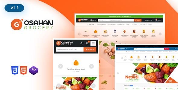 Osahan Grocery - Bootstrap4 Responsive Grocery Light Template by - grocery templates