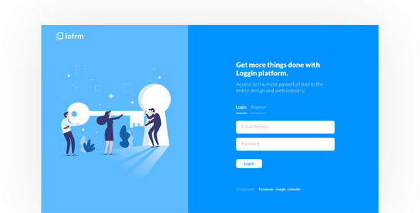 Iofrm - Login and Register Form Templates by brandio ThemeForest