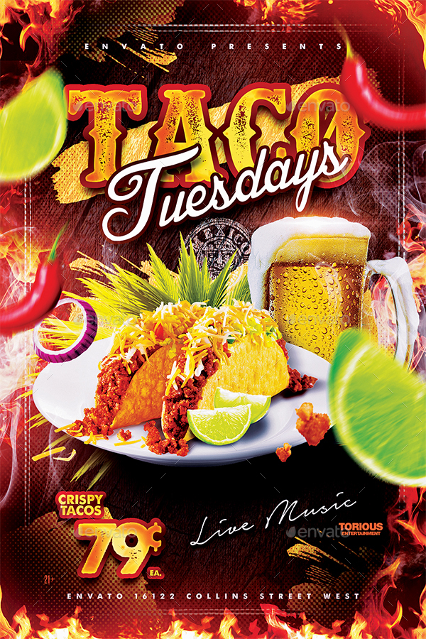 Taco Tuesdays Flyer Template by Take2Design GraphicRiver