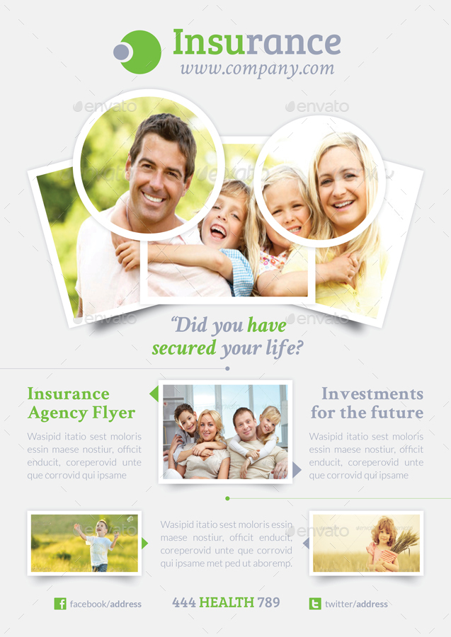Insurance Flyer Bundle Templates by grafilker GraphicRiver - insurance flyer templates