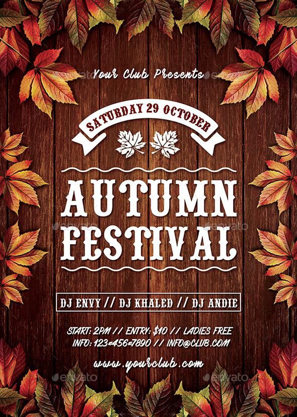 Autumn Fall Festival Flyer by Peachline GraphicRiver