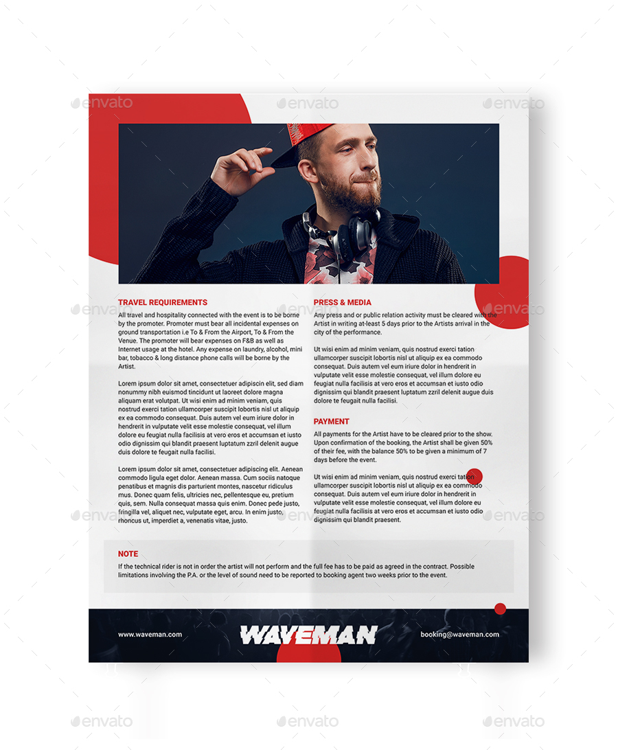 Press Kit For Artist Promodj Dj Press Kit Dj Resume Dj Rider Psd Template