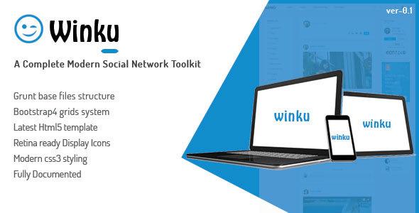 Winku \u2013 Social Network Toolkit Responsive Template MasterTemplate