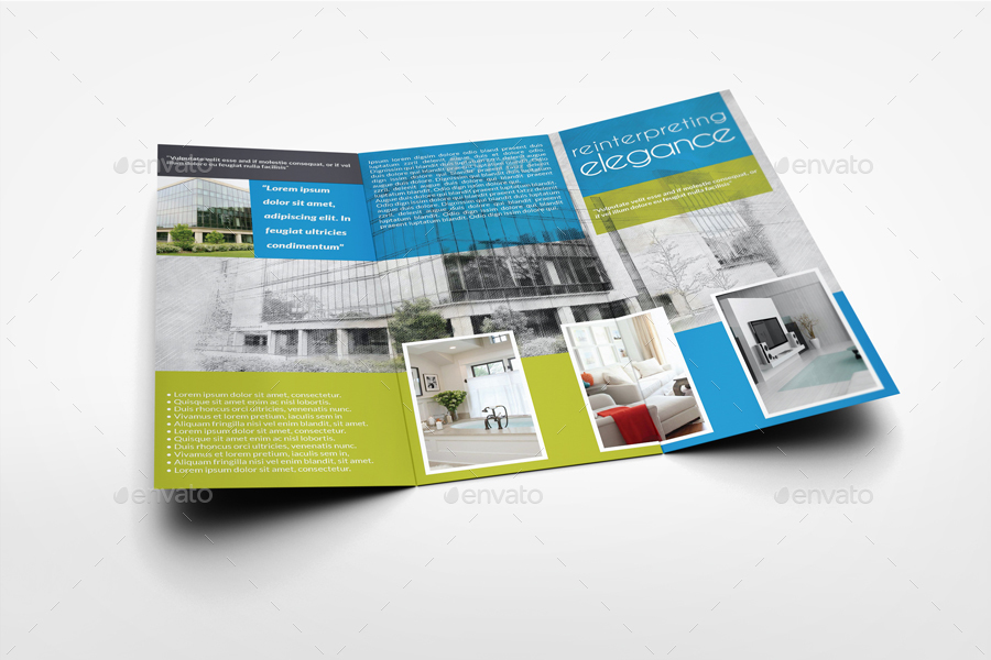 Architectural Design Tri-Fold Brochure Template Vol2 by OWPictures