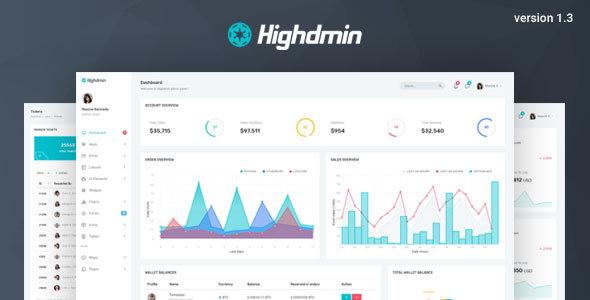Highdmin - Responsive Bootstrap 4 Admin Dashboard by coderthemes