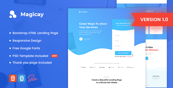 Magicay - Business HTML Landing Page Template by Morad ThemeForest